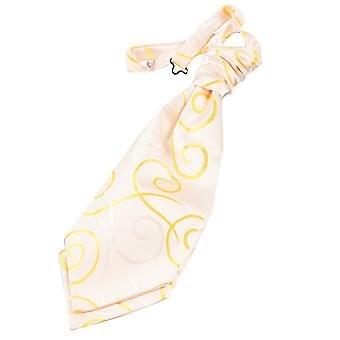 Gold Scroll Pre-Tied Wedding Cravat for Boys