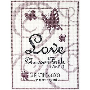 Love Never Fails Counted Cross Stitch Kit-6
