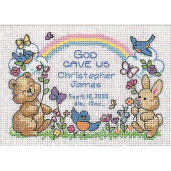 God's Babies Birth Record Mini Counted Cross Stitch Kit-7