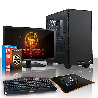 Fierce GUARDIAN Gaming PC, Fast AMD Ryzen 5 1500X 3.7GHz, 1TB HDD, 8GB RAM, GTX 1050 2GB