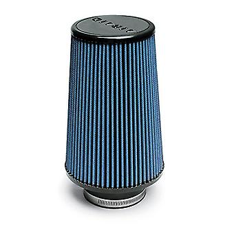 Airaid 703-420 Universal Clamp-On Air Filter: Round Tapered; 3.5 in (89 mm) Flange ID; 9 in (229 mm) Height; 6 in (152 m
