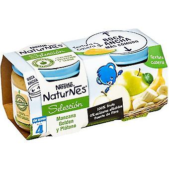 Nestlé Golden Apple and banana puree 2x200 g (Childhood , Healthy diet , Pots)