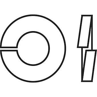TOOLCRAFT B4 D127-A2 194681 Split lock rings Inside diameter: 4.1 mm M4 DIN 127 Stainless steel A2 100 pc(s)