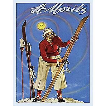St Moritz Small Steel Sign 200Mm X 150Mm