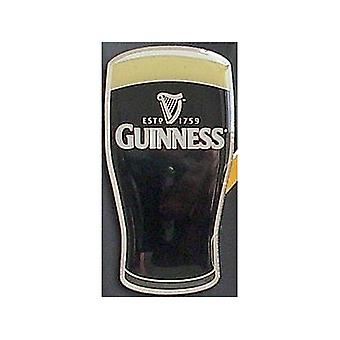 Guinness Pint Glass Die Cut Heavy Metal Fridge Magnet