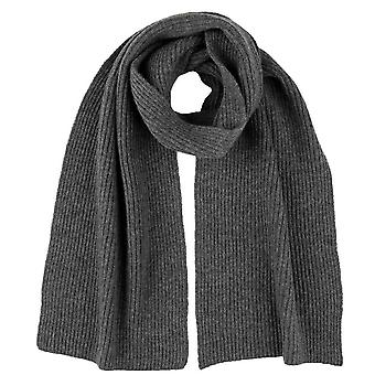 Johnstons of Elgin Full Cardigan Stitch Scarf - Mid Grey