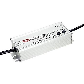 Mean Well HLG-40H-12A LED driver, LED transformer Constant voltage, Constant current 39 W 3.33 A 7.2 - 12 Vdc dimmable,