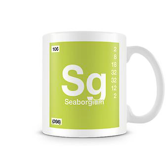Scientific Printed Mug Featuring Element Symbol 106 Sg - Seaborgium
