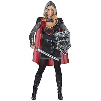 Valorous Knight Medieval Warrior Renaissnace Crusader Dress Up Womens Costume