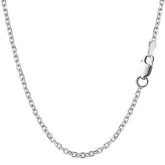 Sterling Silber Rhodium plattiert Kabel Kette Halskette, 2,3 mm