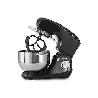 Andrew James 5.5 Litre Stand Food Mixer With Splash Guard And 4 Mixer Attachments - Black