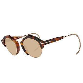 TOM FORD unisex sunglasses round Brown