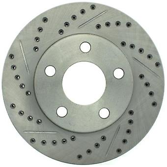 StopTech 227.62056R Select Sport Drilled and Slotted Brake Rotor; Front Right