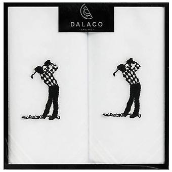 Dalaco Golfer Taschentücher - White
