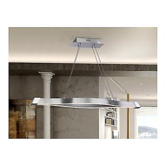 Schuller Modern Satin Nickel Opal Hanging Ceiling Light Pendant