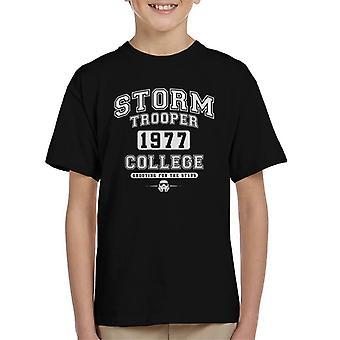 T-shirt do original Stormtrooper Varsity 1977 universitário