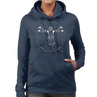 Original Stormtrooper Vitruvian Man Women's Hooded Sweatshirt