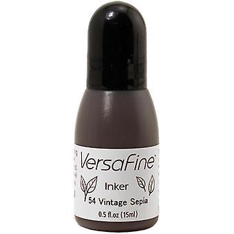 VersaFine Pigment Ink Refill .5oz-Vintage Sepia