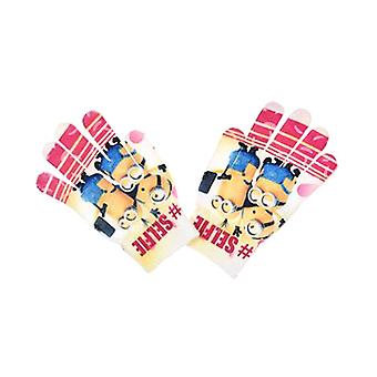 Minions Mittens Camouflage One Size Pink