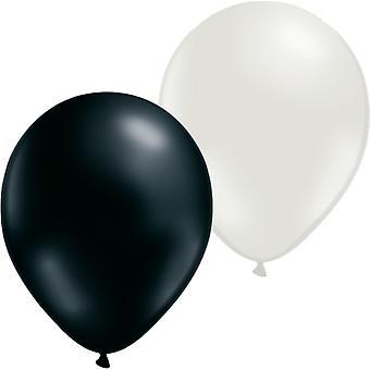 Ballongkombo 24-pack wit/zwart