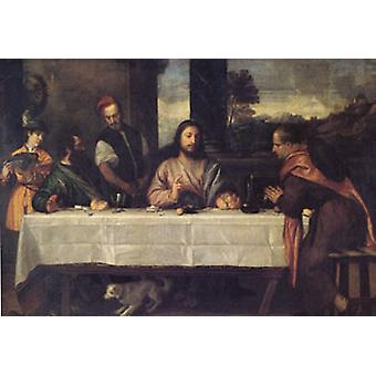 The Supper at Emmaus, Titian, 60x40 cm