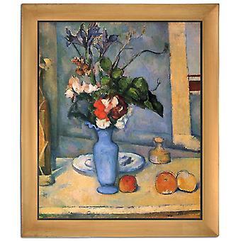Met de blauwe vaas, Paul Cezanne, 61x51cm