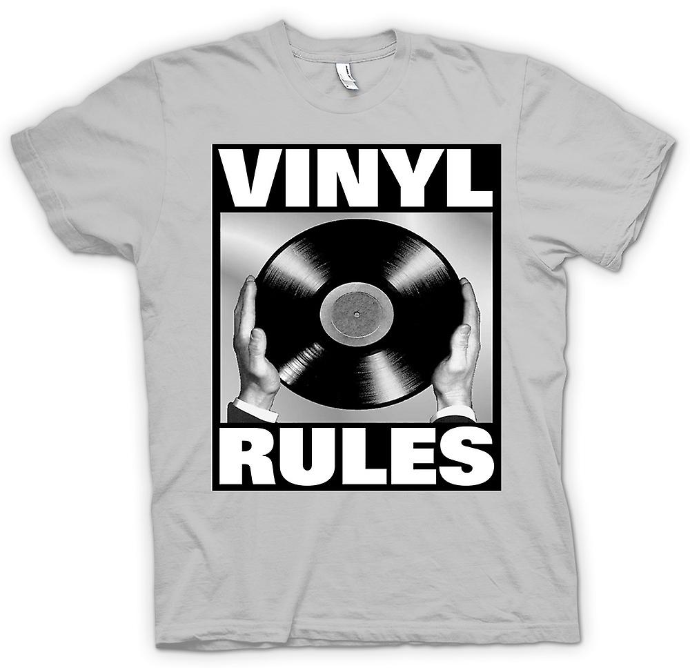 Heren T-shirt - Vinyl Rules - DJ mixen