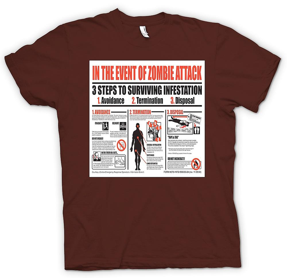 Mens T-shirt - Zombie Infestation - Survival-Poster