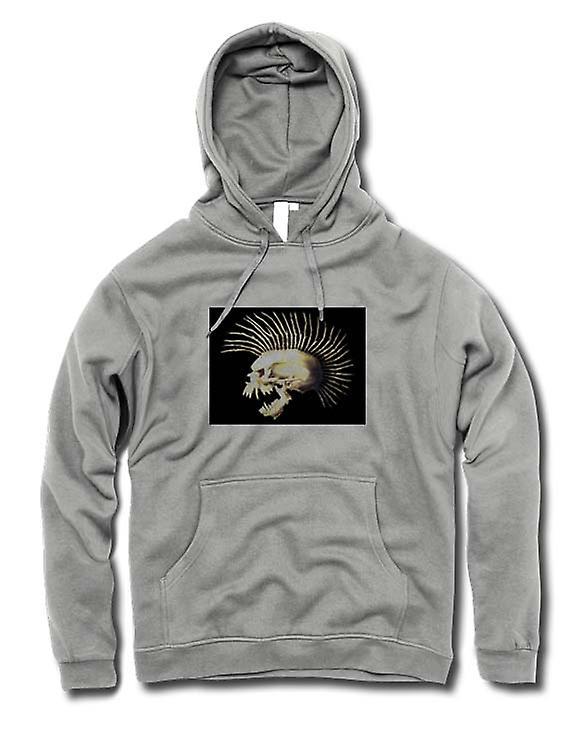 Mens Hoodie - Punk Skull mit Dornen