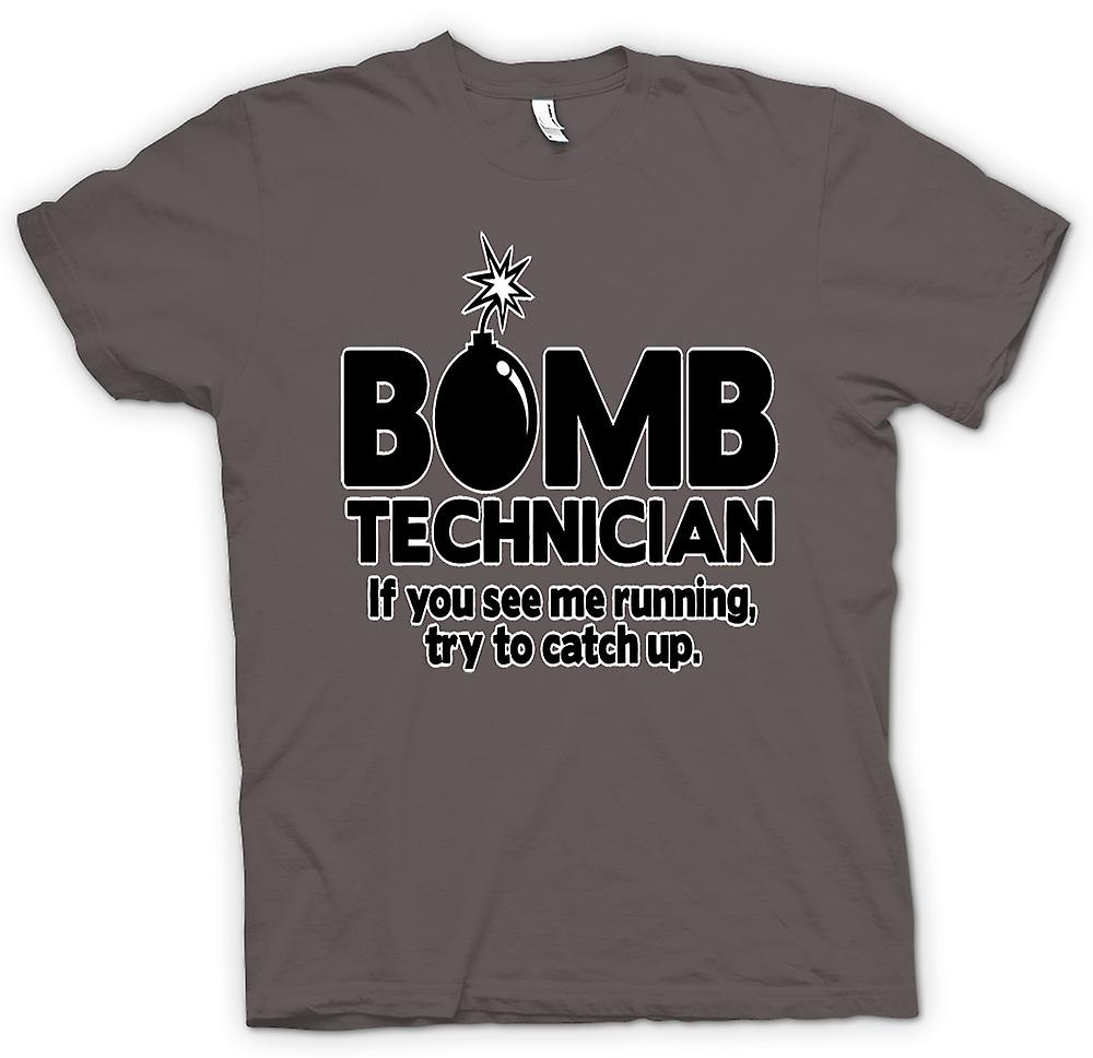 Womens T-shirt - Bomb Technician, If You See Me Running Try To Keep Up
