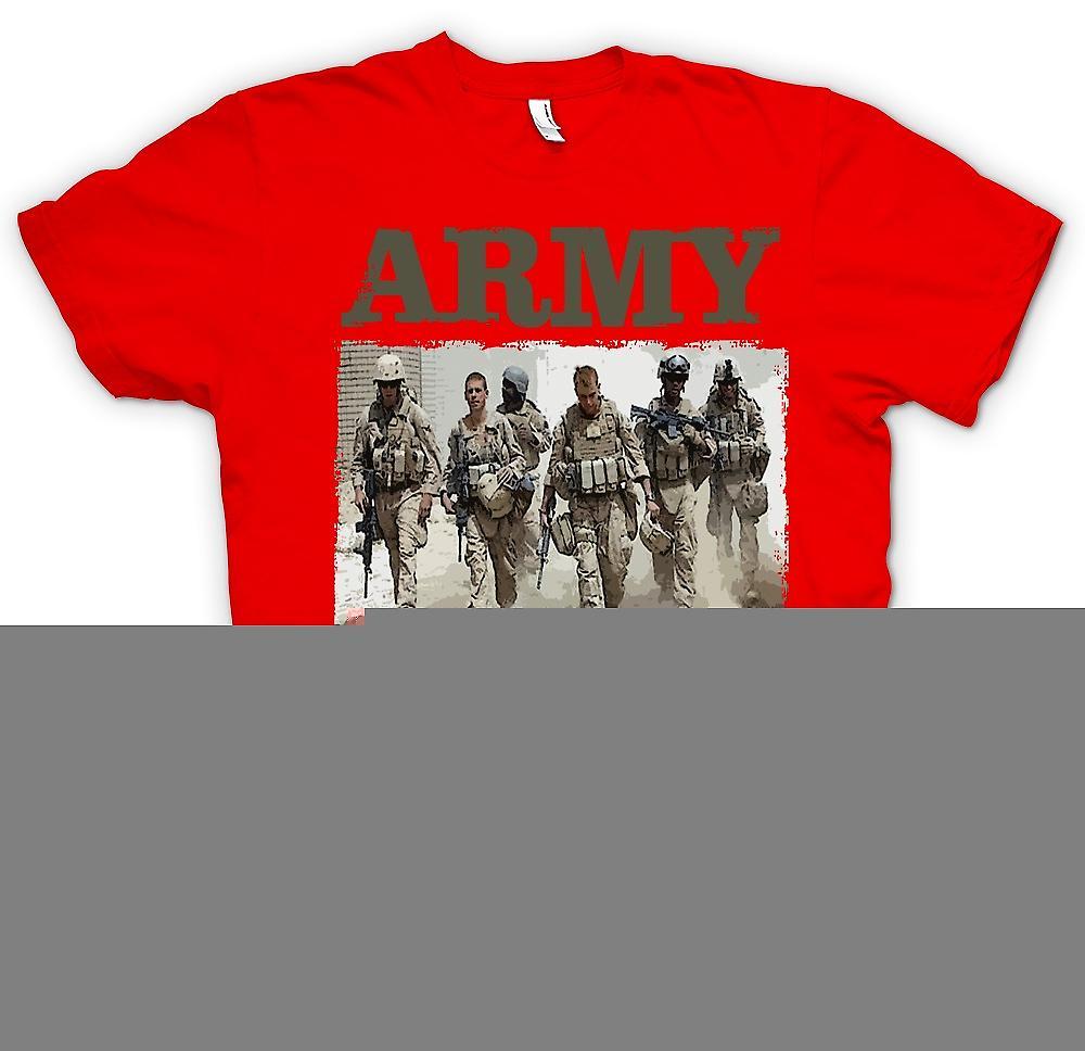 Mens T-shirt - Army Combat Veteran - Afghanistan