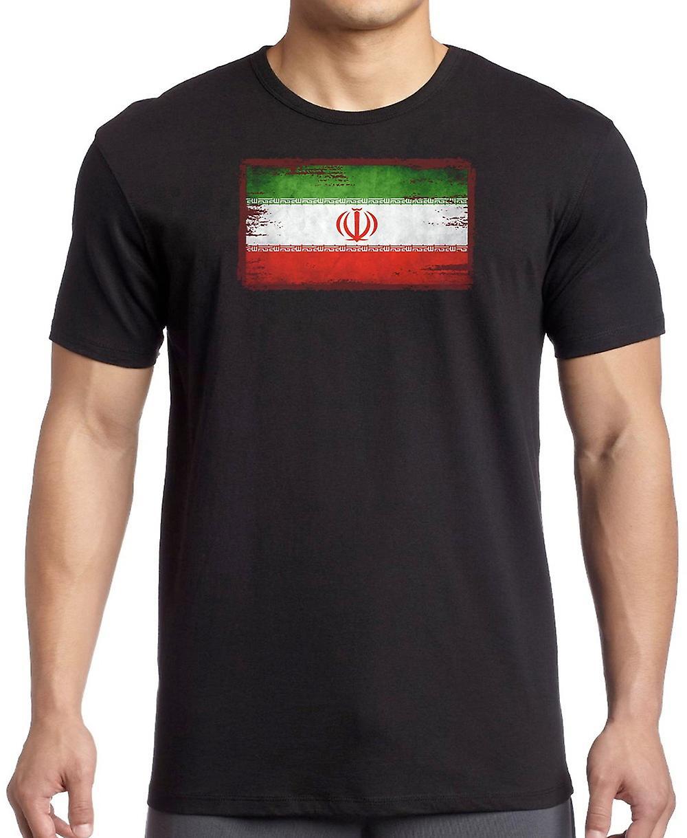 Iran Iranian Grunge Flag Kids T Shirt