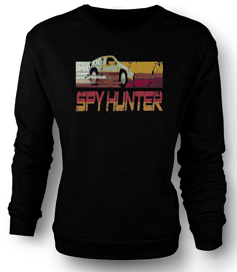 Mens Sweatshirt Spyhunter - C64 - Retro Computer Game 0s