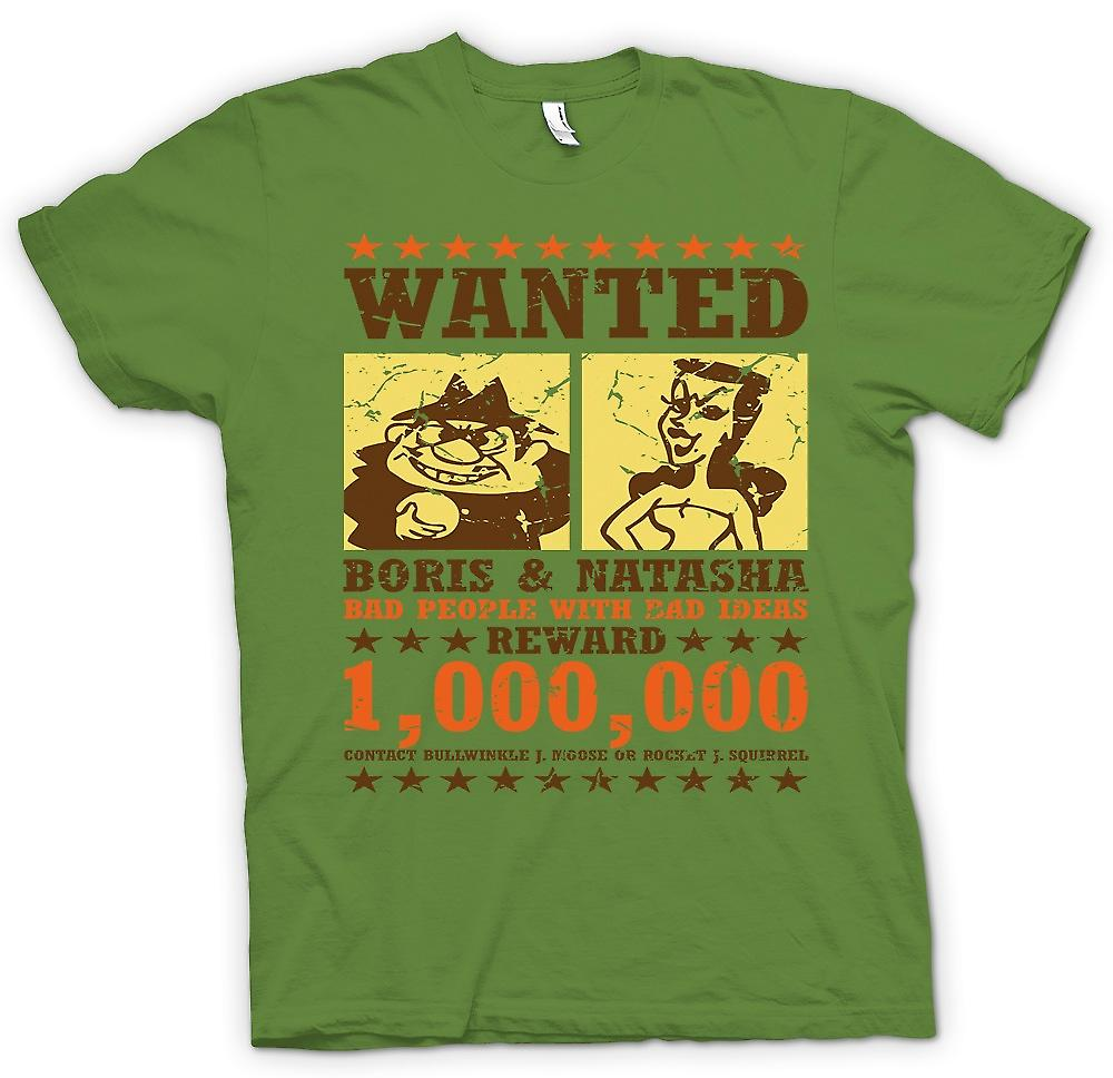 Mens T-shirt - Wanted - Boris & Natasha - Funny