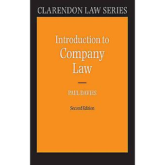 Introduction to Company Law by Paul Davies - 9780199207763 Book