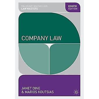 Firma Recht (8. überarbeitete Auflage) von Janet Dine - Marios Koutsias - 9