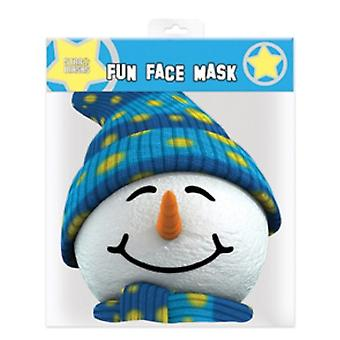 Snowman Christmas Party Card Face Mask