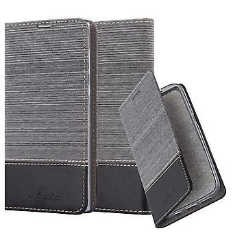 Cadorabo case for Sony Xperia L1 - mobile case with stand function and compartment in the fabric design - case cover sleeve pouch bag book