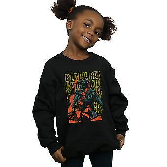 Marvel meisjes Avengers Black Panther Collage Sweatshirt