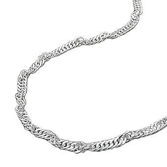 Bauchkette Bikinikette Singapurkette Körperkette 925 Silber diamantiert 90 cm