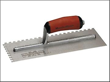 Marshalltown Notched Trowel 702SD Square 1/4in Durasoft Handle 11 x 4.1/2in