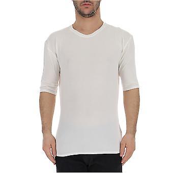 Laneus White Cotton T-shirt