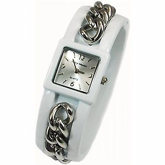 Philip Mercier Ladies White Bangle Fashion Watch PMP25A