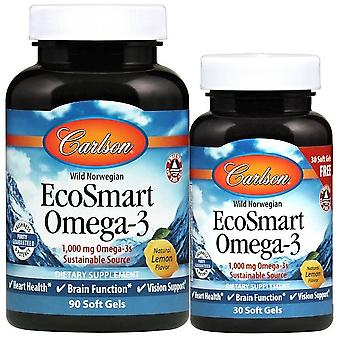 Carlson Labs EcoSmart Omega-3 Natural Lemon 500 mg 250 Perls