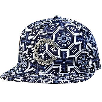 Crooks & Castles Thuxury Chain C Venetian Strapback Baseball Cap True Navy