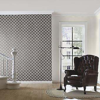 Rasch Faux Effet Tile Pattern Wallpaper Realistic Vintage Abstract Floral Motif 524710