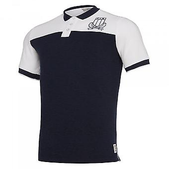 2019-2020 Italië macron Rugby Leisure Travel Polo Shirt Navy