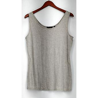 H von Halston Top Essentials Scoop Neck Stricken Tank grau A286251