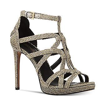 Michael Michael Kors Womens Sandra Leather Peep Toe Special Occasion Ankle St...