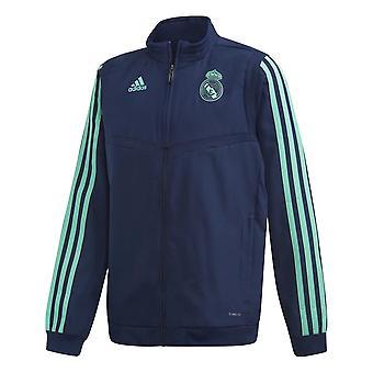 2019-2020 Real Madrid Adidas EU Presentation Jacket (Night Indigo) - Kids